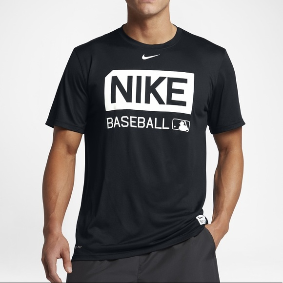 e25d22b5 Nike Shirts | Mens Dri Fit Baseball T Shirt Navy Xxl | Poshmark